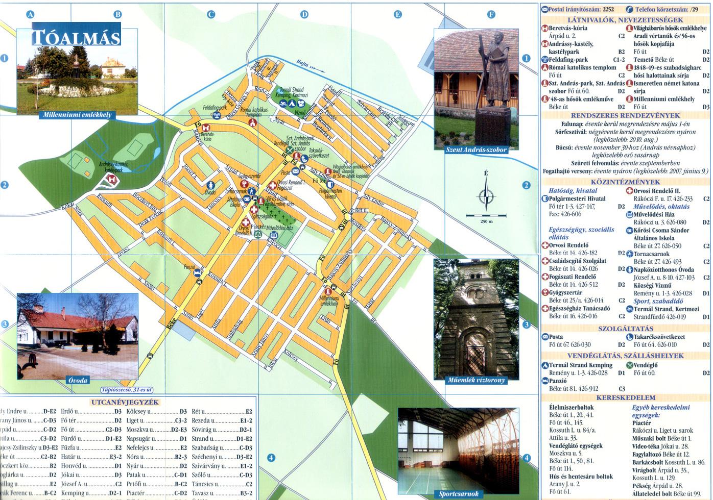 tóalmás térkép Tóalmás információs térképe | Tóalmási Közös Önkormányzati Hivatal  tóalmás térkép