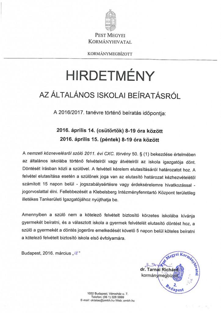 hirdetmeny-idopontrol-altalanos-iskolai-beiratkozas-2016